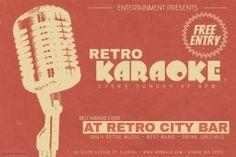 landscape retro music karaoke night event flyer template Event Flyer Templates, Free Entry, Graphic Design, Landscape, Flyers, Dj, Poster, Night, Music