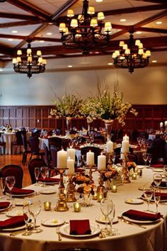 Red and Gold Wedding Reception