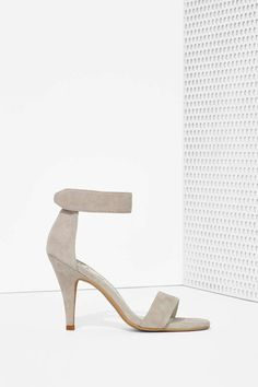 Jeffrey Campbell Hough Suede Heel - Gray at Nasty Gal Grey Heels, Lace Up Heels, Suede Heels, High Heels, Shoes Heels, Gray Shoes, Strap Heels, Ankle Strap, Cute Shoes