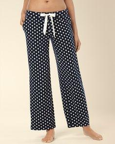 #MySomaWishList Soma Intimates Embraceable Pajama Pant Big Dot Navybound #somaintimates