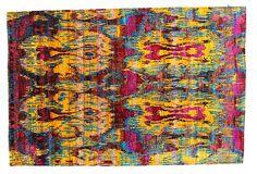 "5'7""x8'4"" Sari Silk Rug, Fuchsia/Yellow by F. J. Kashanian"