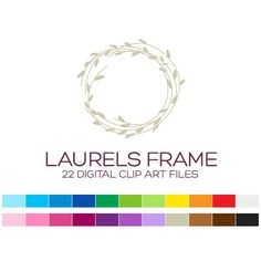 Laurels Clipart for Personal & Commercial Usage  by coloryourway