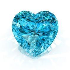 Picture of diamond heart shape blue isolated on white background - render. stock photo, images and stock photography.