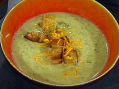 Broccoli and Cheese Soup with Croutons Recipe : Emeril Lagasse : Food Network - FoodNetwork.com