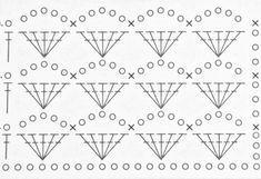 Crochet Stitches Chart, Crochet Shell Stitch, Form Crochet, Crochet World, Crochet Borders, Learn To Crochet, Tunisian Crochet, Knit Crochet, Crochet Designs