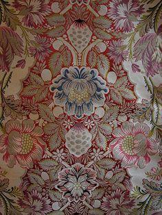 19th C. French Silk Metallic Brocade