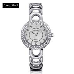Metal Bracelet Quartz Bracelet Gold Bracelet Crystal Diamond Gold Watch