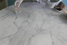 faux fake marble paint technique replicate marble