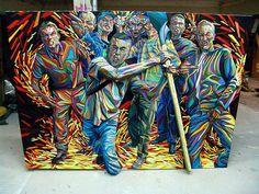 3D Graffiti auf Leinwand von Shaka