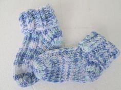 Hand Knit Baby boy Socks Knitted Baby Socks Blue by Ritaknitsall, $15.00