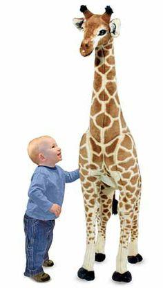 life size giraffe stuffed animal | giraffe life size plush by melissa doug previous in stuffed animals ...