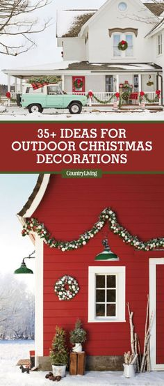 Save These Ideas: Save these classic country Christmas decorating ideas for laterby pinning this image, and followCountry LivingonPinterestfor more holidayinspiration. #christmas #christmasdecoration #outdoorchristmasdecorations #homeinspo #home
