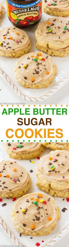 Apple Butter Sugar Cookies- these cookies are easy to make and make the perfect Thanksgiving dessert recipe!