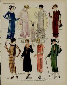 "The Flapper Girl — kittyinva: October, 1924 fashion from ""The. Art Deco Fashion, Retro Fashion, Vintage Fashion, Fashion Tips For Women, Womens Fashion, 1920s Fashion Women, Teen Fashion, Look Vintage, Fashion Days"