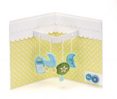 A cute pop-up card for a baby shower. A cute pop-up card for a baby shower. 3d Cards, Pop Up Cards, Paper Cards, Folded Cards, Cute Cards, Baby Girl Cards, New Baby Cards, Baby Pop, Baby Baby