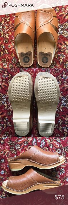Tan Troentorp Clogs Size 8/38  Only Worn Twice! Beautiful, genuine leather clogs…