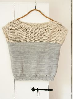 Laura's Loop: Cap Sleeve Lattice Top - Cap Sleeve Lattice Top - the purl bee  A knitting project I want to try, as well.