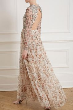 d5605e2ef78 Andromeda Garland Long Sleeve Gown in Ivory from Needle   Thread s New  Season Collection