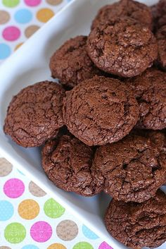 Chewy-Triple Chocolate Cookies - these are rich & intense, and so so good. Have a glass of milk nearby!