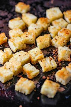 This Classic Caesar Salad is amazing, especially when you make the croutons and Caesar dressing from scratch. Perfect with an Italian entree. Italian Bread, Italian Dishes, Italian Entrees, Classic Caesar Salad, Ceasar Salad, Cheese Salad, Pasta Dishes, Baking Sheet, Salad Recipes