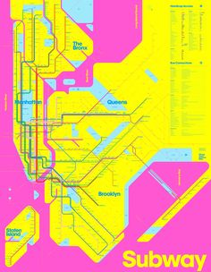 Our fascination with the New York Subway began when we moved to Brooklyn sixteen years ago. Our first attempt to design a map for the system, the <b>One-Color Subway Map</b>, earned many fans and quickly sold out. Since then we have been tinkering wi