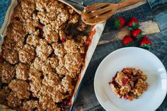 Strawberry Oatmeal Cookie Cobbler  - CountryLiving.com