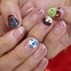 Star Wars Tsums CNY! #nailart by nailartexpress