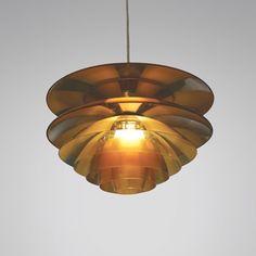 Poul Henningsen; Glass 'Septima' Ceiling Light for Louis Poulsen, 1929.