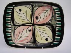 Rare Plate by Inger Waage Stavangerflint Norway mid 20th C