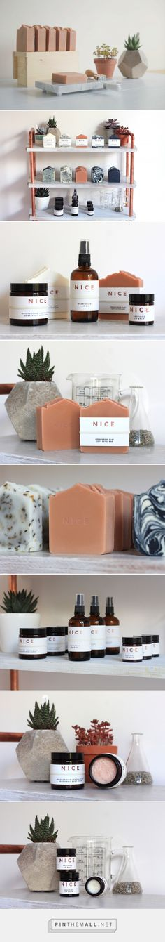 N I C E # packaging and branding adored at Cosmetic Packaging, Beauty Packaging, Brand Packaging, Cool Packaging, Label Design, Branding Design, Branding Agency, Soap Packing, Savon Soap