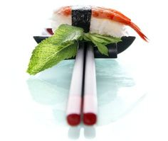 Awesome and different photographic view of sushi