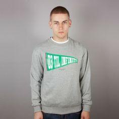 KING APPAREL CREW INFINITY GREY HEATHER - Sale £35 Graphic Sweatshirt, T Shirt, Infinity, Menswear, King, Sweatshirts, Grey, Long Sleeve, Sleeves