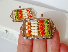 Miniature Christmas cookies tray dollhouse scale by Evamini, $19.95
