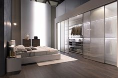 Walk-in closets, built-in wardrobes integrated into modern decor