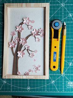 Artes da Yone !: Quadrinho de Sakuras com Ferramentas Olfa !!