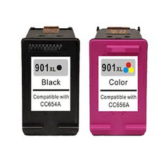 2x Ink cartridge for HP901 XL BK+C , for HP Officejet 4500 J4580 J4550 J4540 4500 Wireless J4680 J4524 J4535 J4585 J4624 J4660