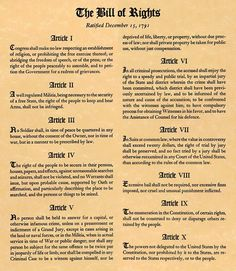 The Bill of Rights...READ THEM! KNOW THEM! UNDERSTAND WHAT'S AT STAKE HERE!!!!!!