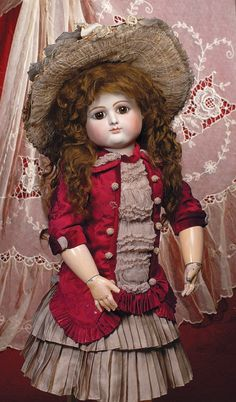 109: RARE FRENCH BISQUE BEBE BY PETIT & DUMONTIER WITH : Lot 109
