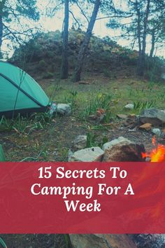 If you want to go camping for a week then read this article to prepare first. Rv Camping Tips, Camping Glamping, Backpacking Tips, Camping Essentials, Camping Life, Camping Products, Camping Trailers, Travel Trailers, Adventure Is Out There