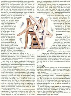 Chair Step Stool Plans - Furniture Plans