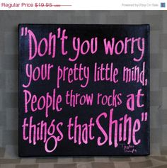 Luck O the Irish Sale Taylor Swift, Things that Shine,Expressive Art on Canvas wall decor for Dorm, Bedroom, Kids room, Girls room wall art. $15.96, via Etsy.