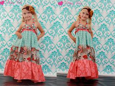 Cora's maxi dress/sundress and top PDF pattern from Create kids couture