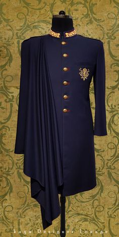 Traditional Wear Sherwani Ethnic Wear Groom Sherwani Achkan Kurta Groom Outfit Designer Wear Designer Mens Wear Designer Made Indo Western Dapper Indian Wear Indian Wedding Groom Royal Wedding Wear Bespoke Custommade Tailormade Handwork Embroidery Handmade Classy Mens Fashion Indian Mens Wear Festive Look Indowestern Groomwear Fashion Blogger kaya Designer Lounge kdl Lifestyle