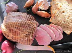 Wędzona szynka wieprzowa Eggs, Meat, Breakfast, Food, Morning Coffee, Essen, Egg, Meals, Yemek