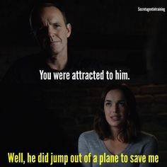 """""""You were attracted to him"""" - Coulson and Simmons #AgentsOfSHIELD"""