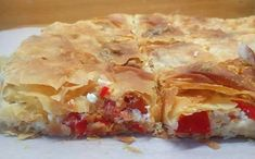 Cookbook Recipes, Pie Recipes, Recipies, Cooking Recipes, Pizza Tarts, Filo Pastry, Cheese Pies, Tomato And Cheese, Diabetic Snacks