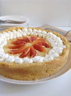 Torta con crema d'arancia e ricotta di pecora