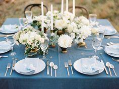 blue + white tablescape | Ryan Ray #wedding