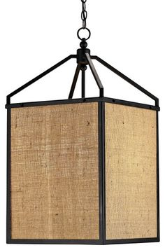 burlap pendant lantern asian pendant lighting