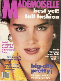 Mademoiselle Magazine Cover September 1984 Brooke Sheilds